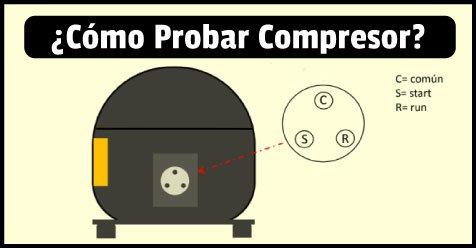 medicion de terminales del compresor de aire acondicionado