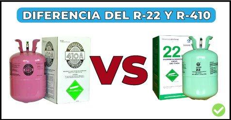 cuales son las diferencias del refrigerante 410a y r22