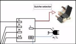 swich selector diagrama aire de ventana
