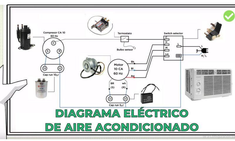 diagrama electrico aire acondicionado ventana